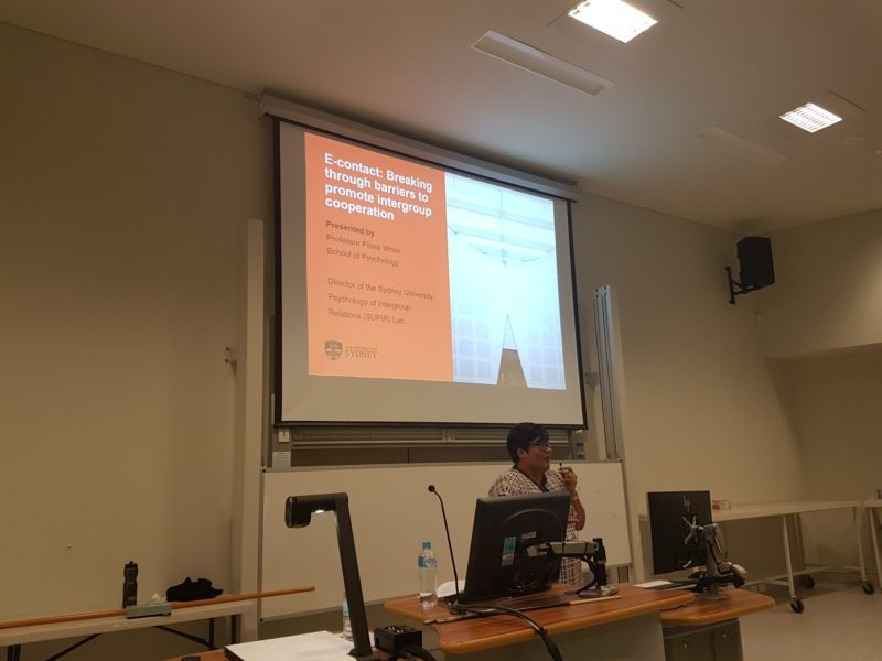 Fiona White presents her work on E-Contact at UWA